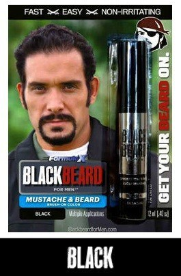 Blackbeard for Men Black Beard Color Brush-on Beard Color