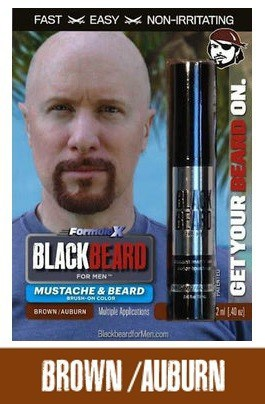 Blackbeard for Men Brown-Auburn Beard Color Brush-on Beard Color