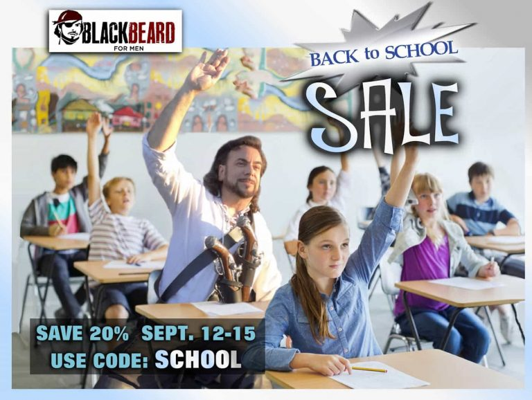 Back to School Sale at Blackbeard for Men!