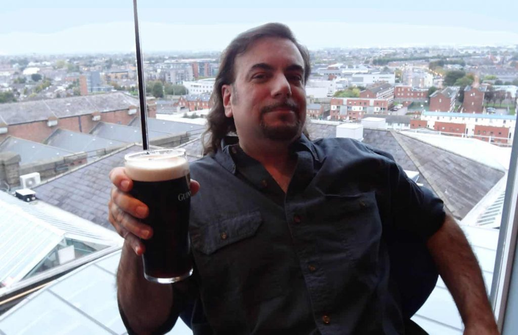 Cap'n Jim with a Guinness