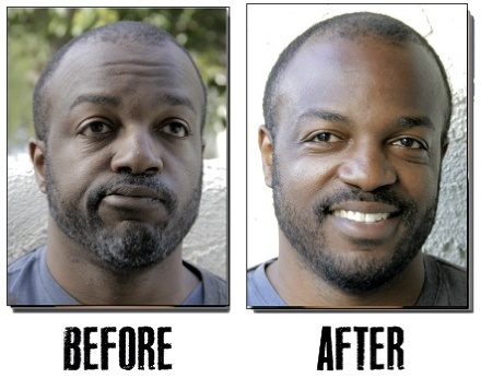 Blackbeard For Men Before and After Three