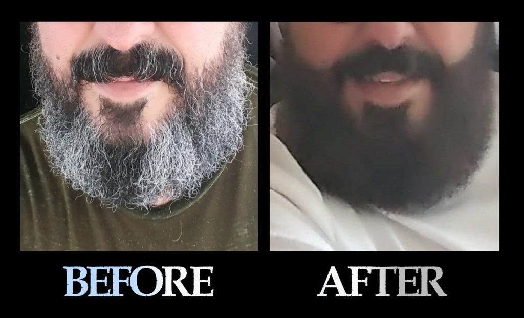 Blackbeard For Men beard color before and after 6