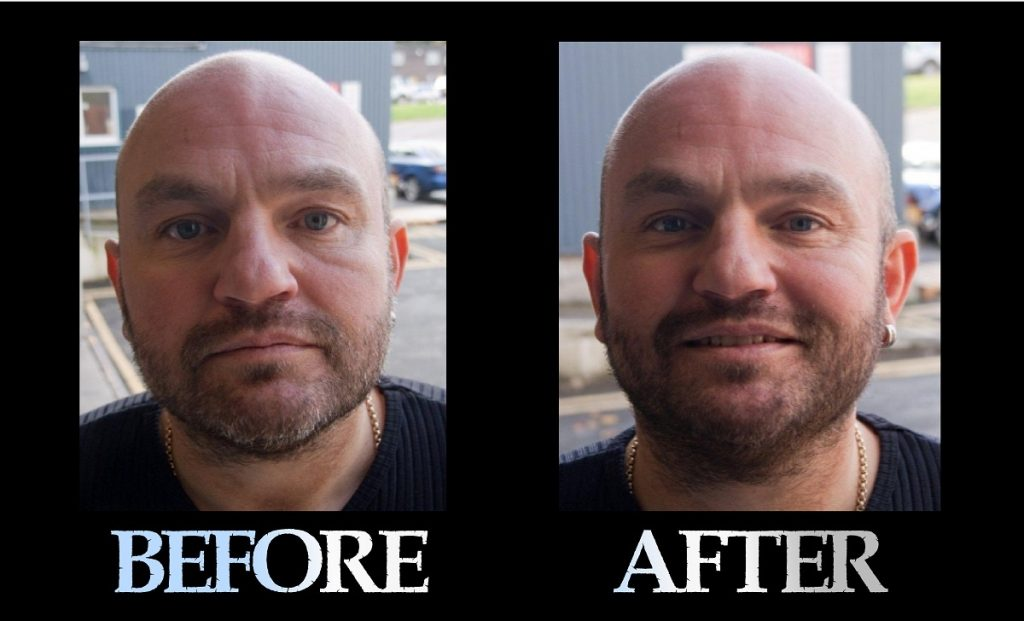 Blackbeard For Men beard color before and after 4