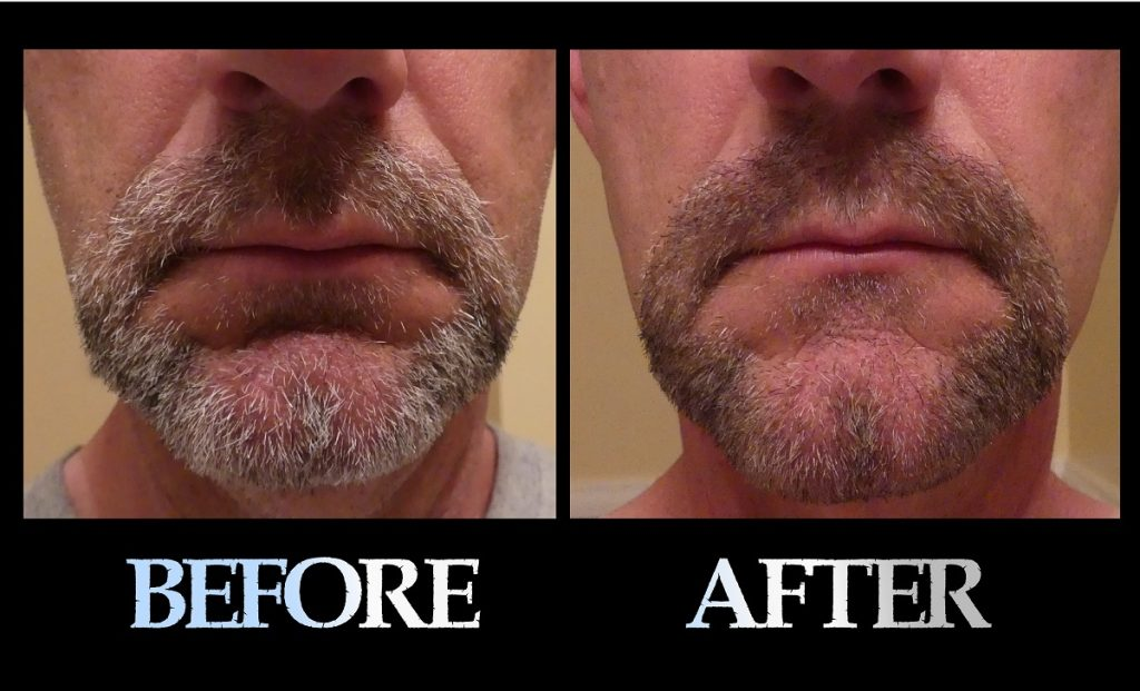 Blackbeard For Men beard color before and after 1