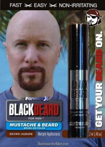 Blackbeard for Men instant, brush on beard dye brown/auburn shade