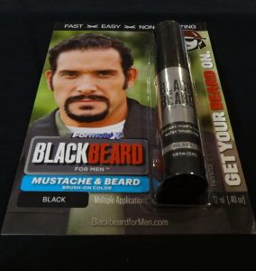 Blackbeard for Men instant, brush on beard dye black shade