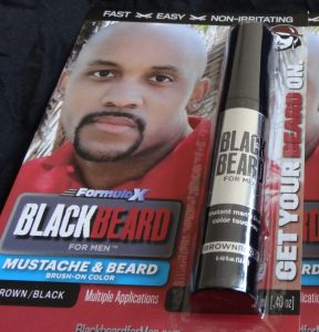 Blackbeard for Men instant, brush on beard dye Brownblack shade