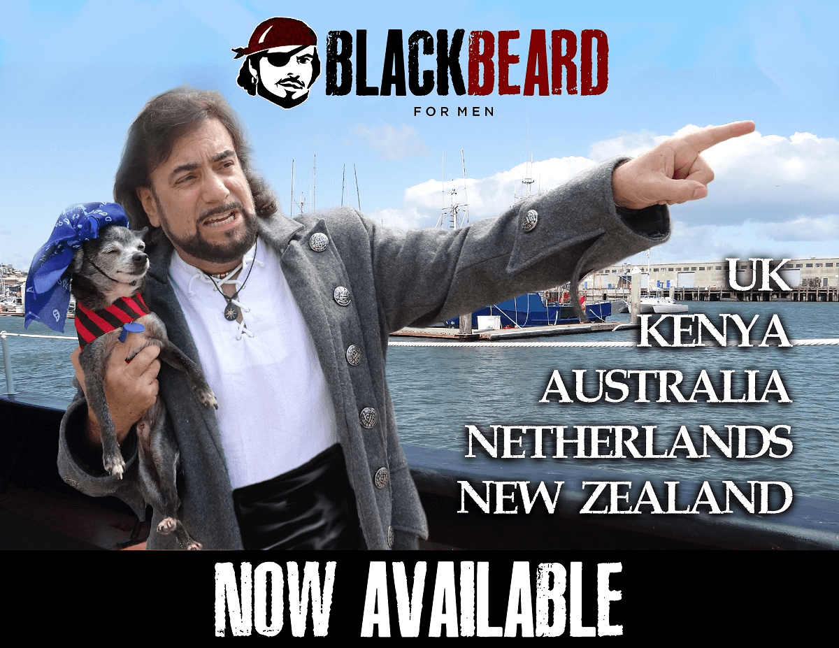 Blackbeard For Men Now Available in 56 countries